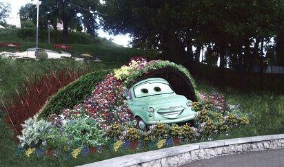 Выставка зеленых авто