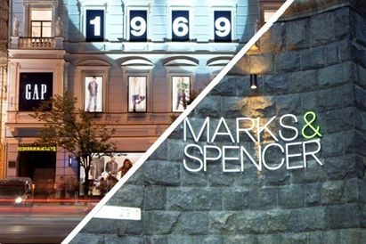 Крещатик покидает два бренда Gap и Marks & Spencer