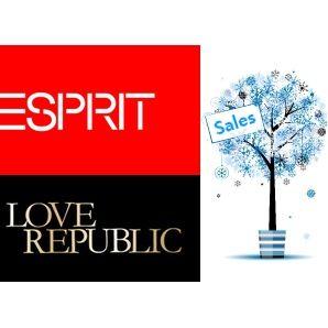 Декабрь 2012! Скидки от Love Republic до 70 % и Esprit до 50%