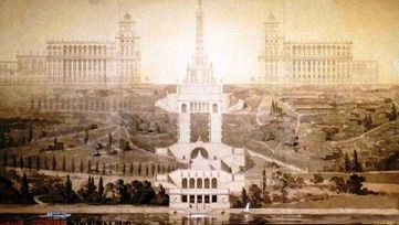 Нереализованный план постройкиПравительственного центра в Киеве в 1934