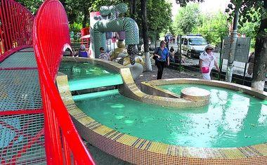 На Пейзажной аллее в Киеве появился фонтан-гривня